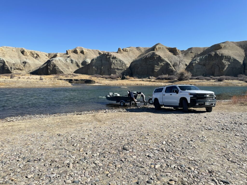 Boat launch on Green River Wyoming