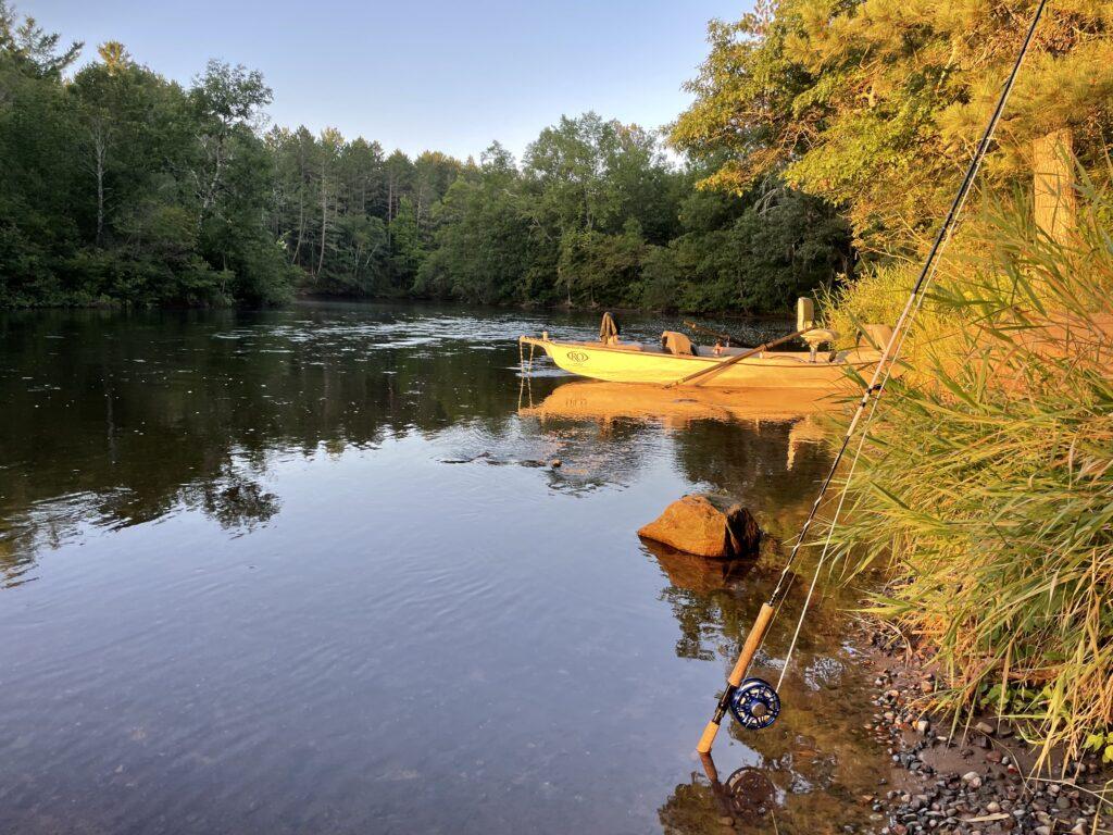A smallmouth river at dawn