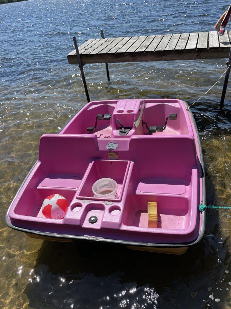 Smallmouth fishing boat